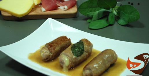 Involtini di carne: con ripieno di prosciutto e formaggio