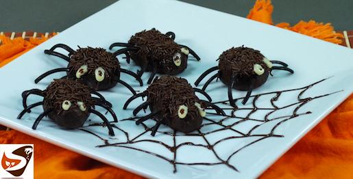Dolci di halloween: ragnetti per bambini
