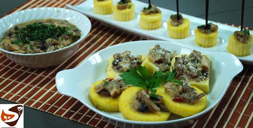 Polenta fritta: croccante con funghi porcini