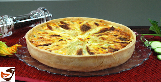 Torta salata con zucchine: ricetta di quiche rustica