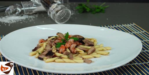 Pasta gamberetti e funghi: ricetta veloce