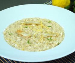 risotto con branzino e limone
