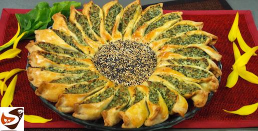Torta salata girasole: con ricotta e spinaci