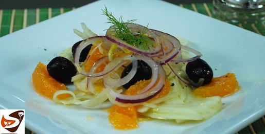 Insalata di finocchi e arance: alla siciliana, con olive, uvetta e pinoli