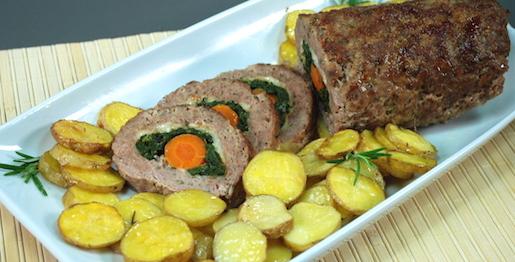 Polpettone ripieno: con spinaci, carote e patate