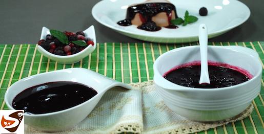 Coulis di frutta: salsa di frutti di bosco, fragole e lamponi
