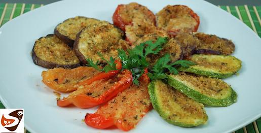 Verdure gratinate al forno: zucchine, pomodori, melanzane, peperoni e cipolle – Ricette vegetariane