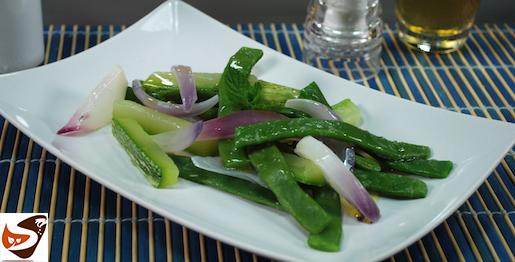 Insalata di zucchine e fagiolini