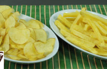 patate fritte, chips , fiammifero