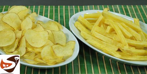 Patatine Fritte, Chips e Fiammifero Perfette!