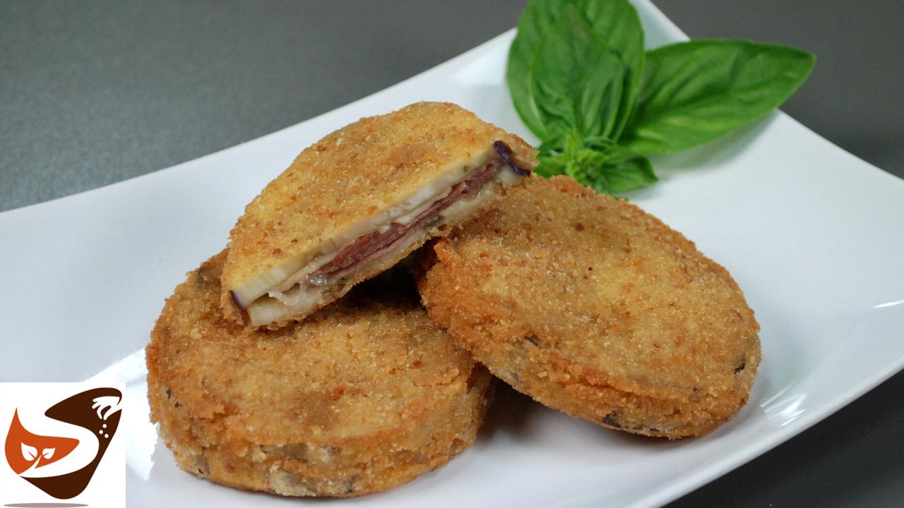 Cotolette di melanzane ripiene di prosciutto e formaggio – Ricetta facile e sfiziosa – Cordon bleu di melanzana