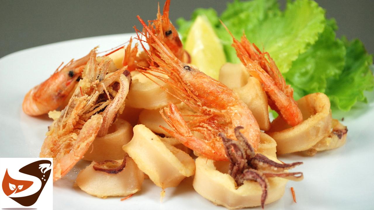 Frittura di calamari e gamberi –  Tutti i trucchetti per una frittura di pesce perfetta !