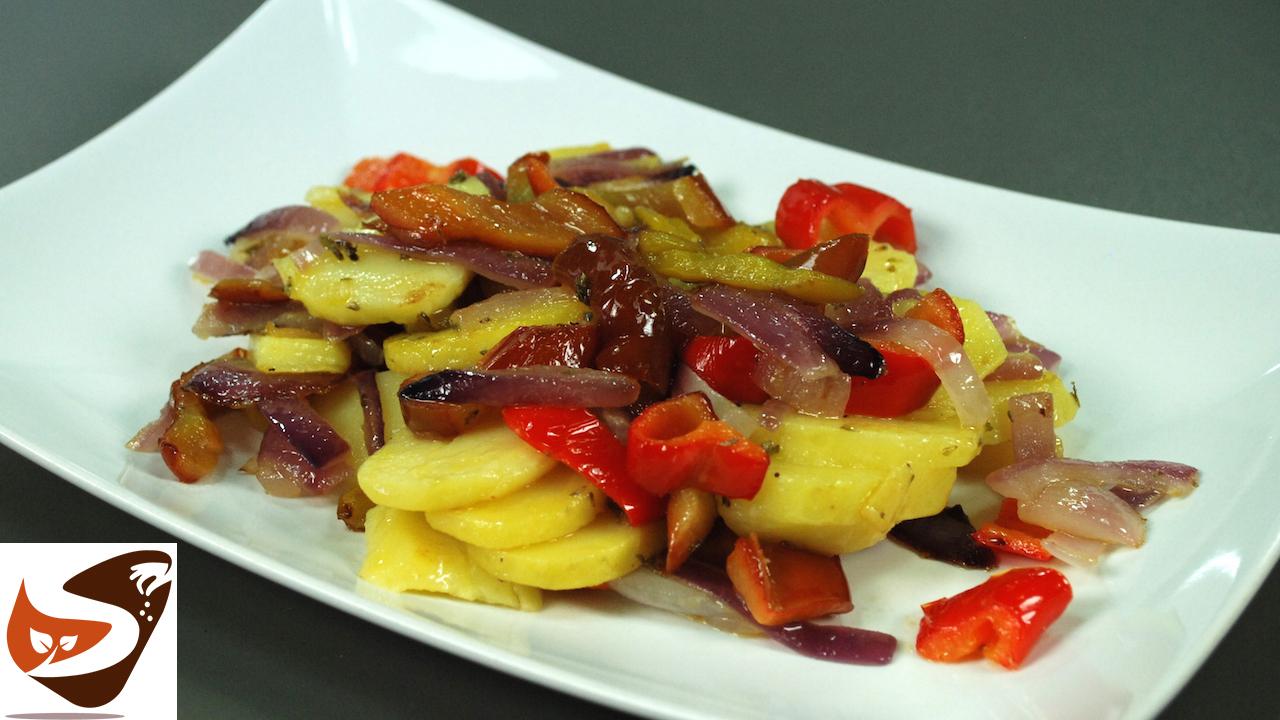 Patate in padella con cipolle e peperoni – Contorni veloci e sfiziosi