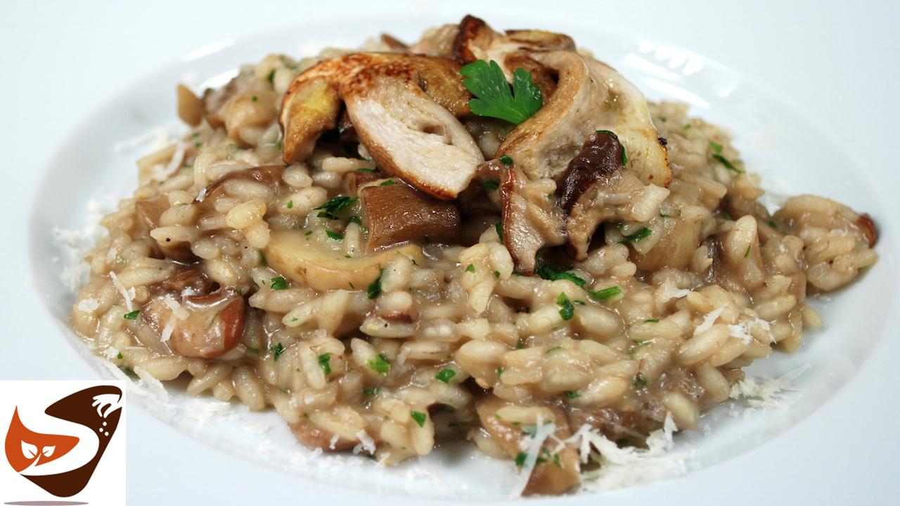 Risotto ai funghi. Ricetta gustosissima, da leccarsi i baffi ! – Primi piatti