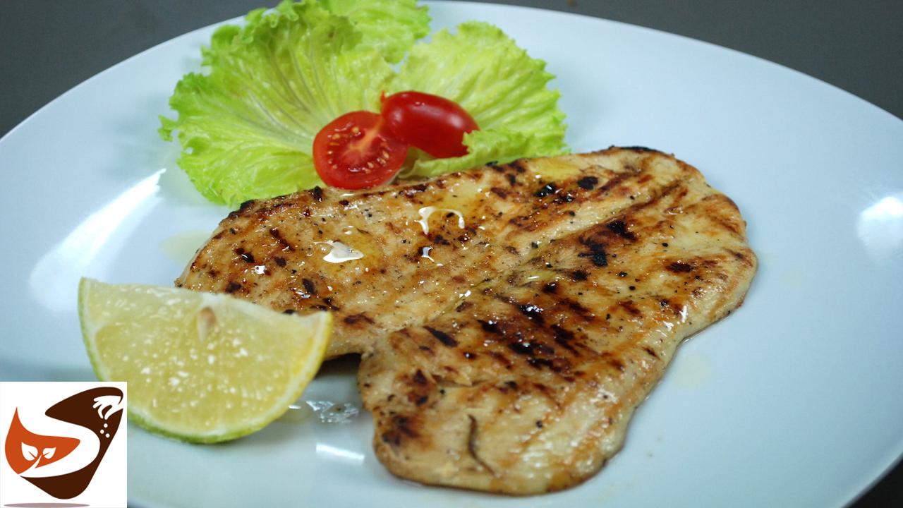 Petto di pollo in padella o alla piastra, marinato al limone – Secondi piatti