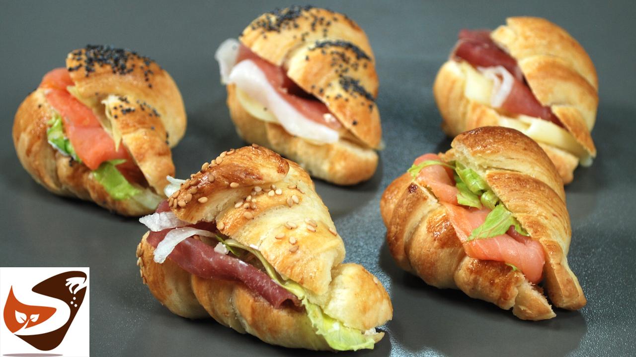 Mini cornetti salati per buffet e rinfreschi – Facilissimi e buonissimi – Croissant sfogliati