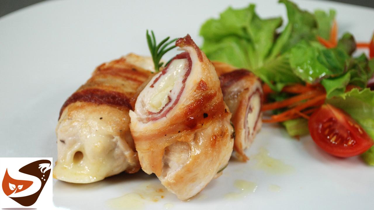 Involtini di pollo con prosciutto e formaggio – Facili,  veloci e di grande effetto