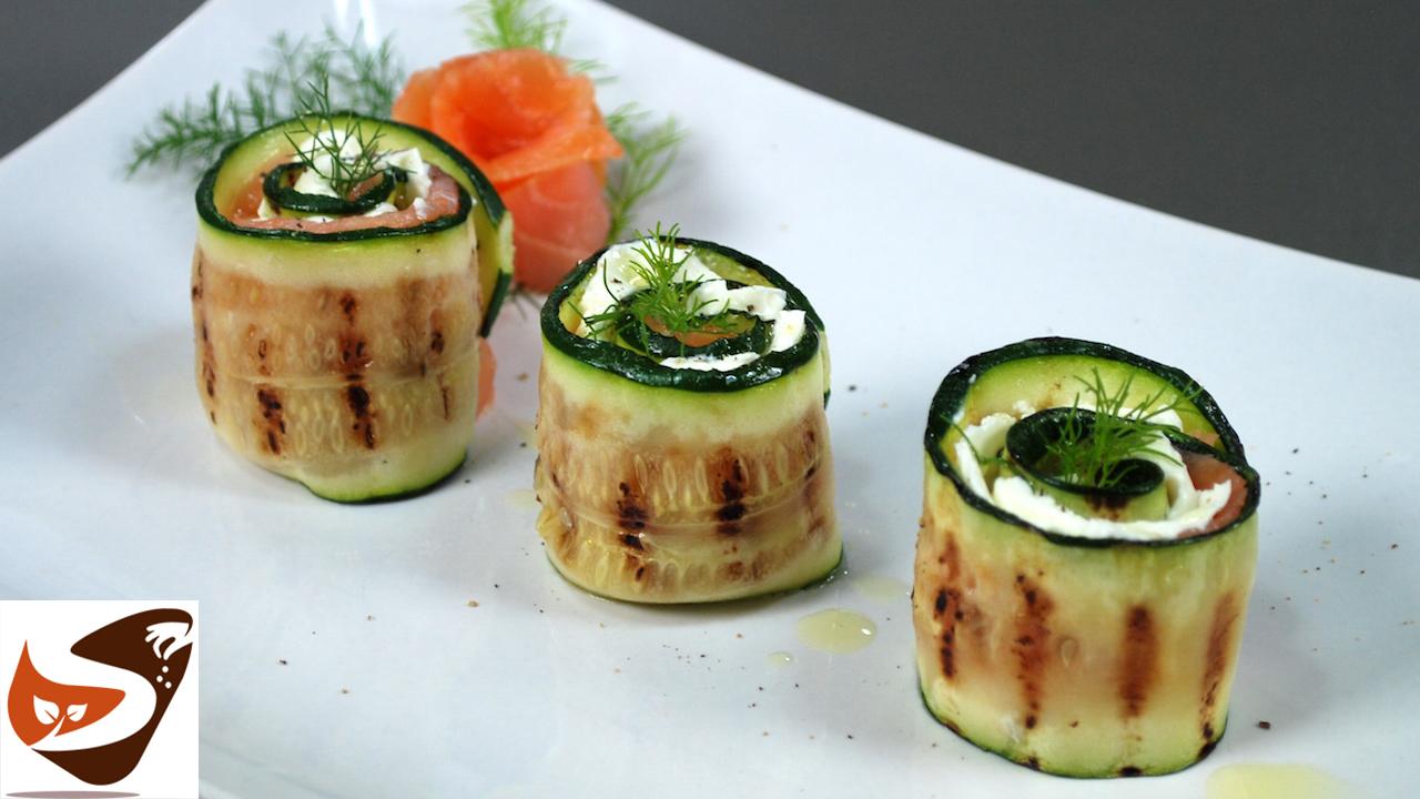 Involtini di zucchine in padella e alla piastra