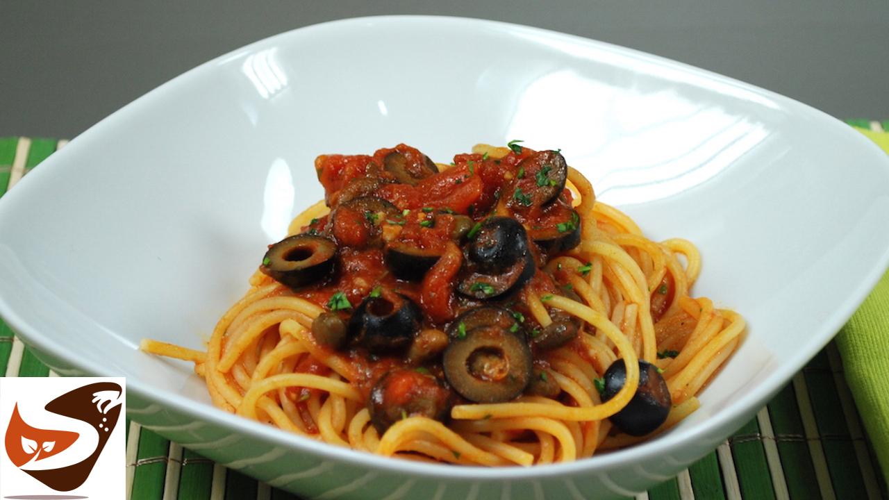 Spaghetti alla puttanesca buoni facili e veloci primi for Cucina italiana primi piatti